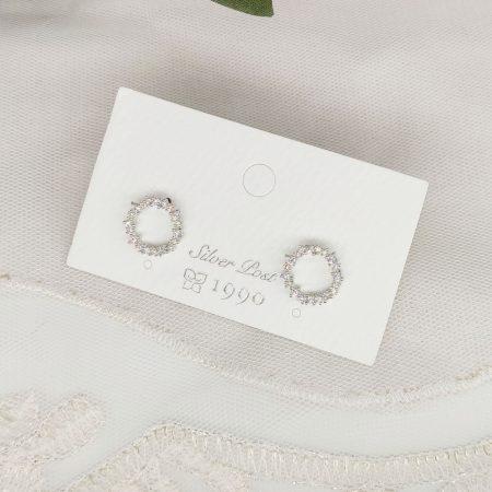 韓國製造-優雅氣質細緻閃圈圈耳環