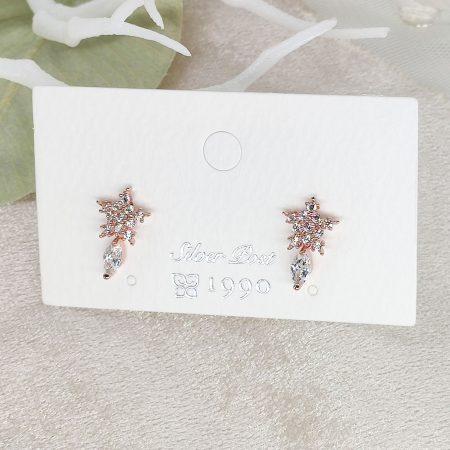 韓國製造-冬日星星碎鑽搖曳耳環